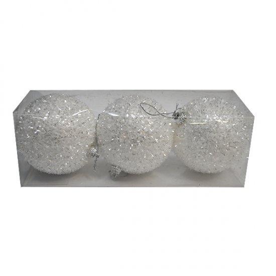 Set 3 globuri argintii