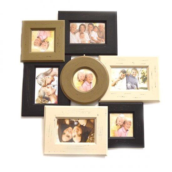 Set 7 rame pentru fotografii dispuse in forma de tablou
