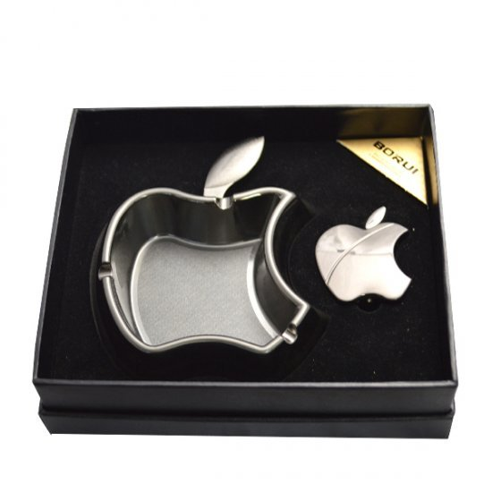 Set Apple argintiu compus din bricheta si scrumiera
