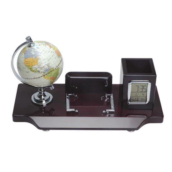 Set birou cu glob, ceas si alte elemente