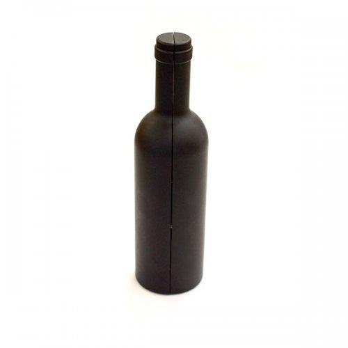 Set pentru vin cu suport in forma de sticla