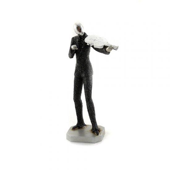 Statueta cantaret la vioara - decoratiune pentru interior