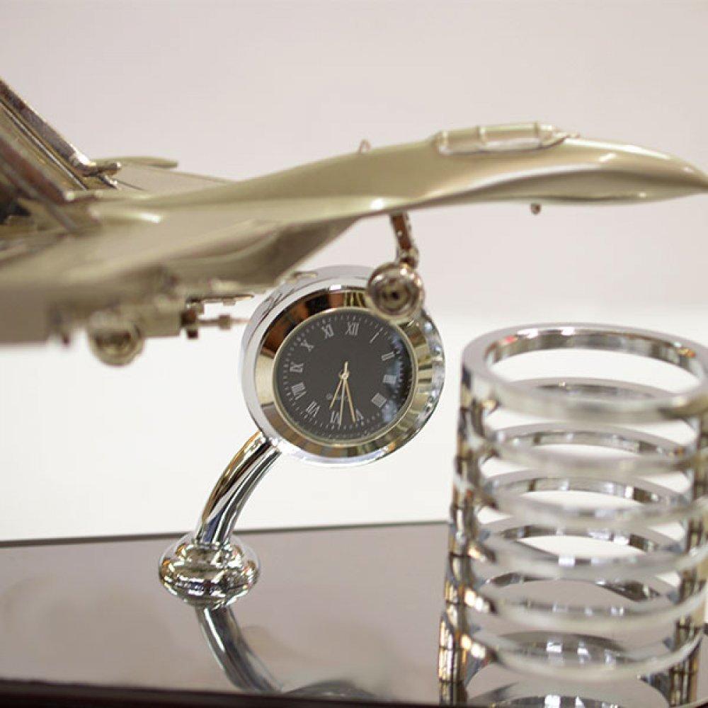 Suport pixuri birou cu ceas si avion