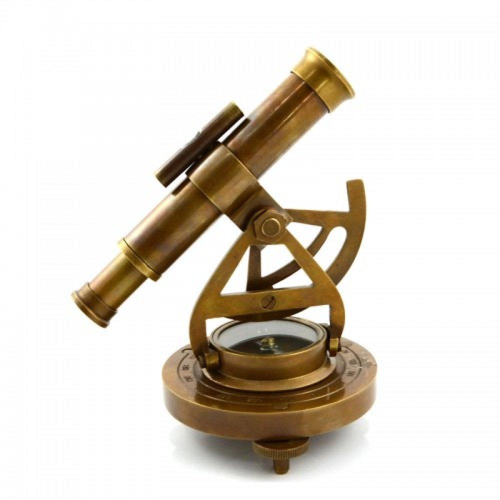 Telescop din bronz cu stativ