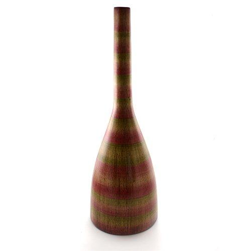 Vaza din ceramica maro cu visiniu