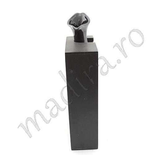 Vaza pentru flori din ceramica neagra