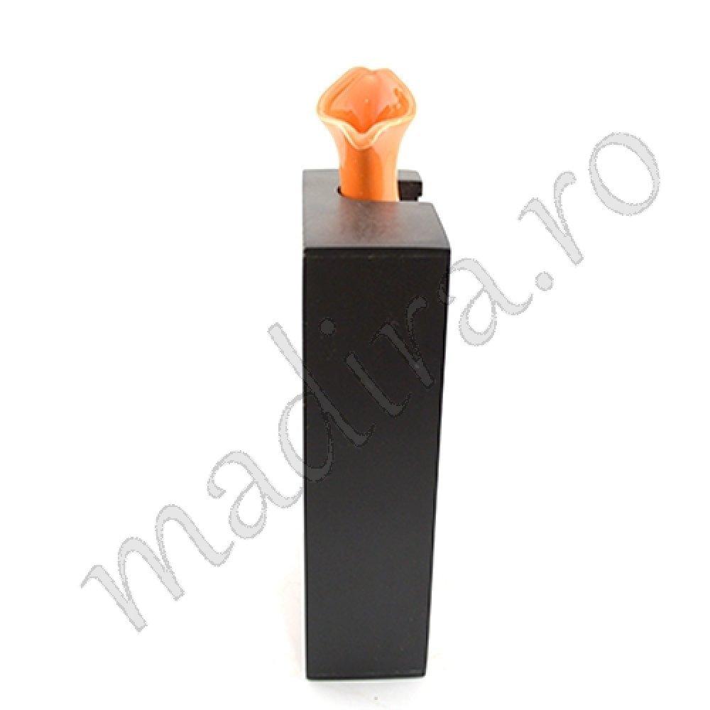 Vaza pentru flori din ceramica portocalie
