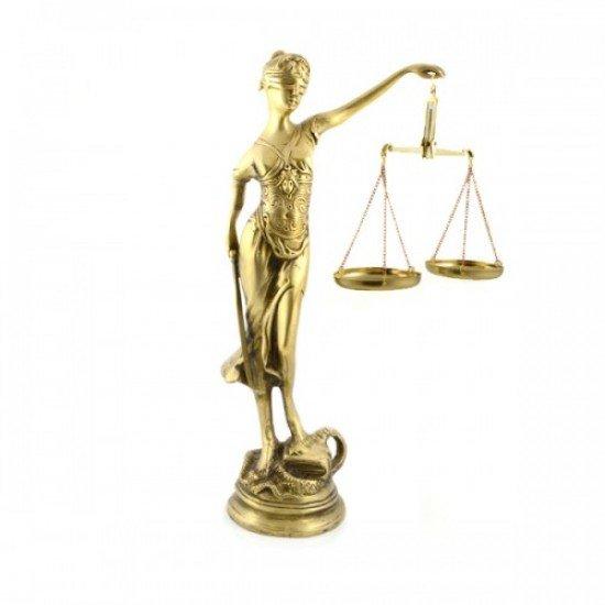 Zeita justitiei din bronz mica